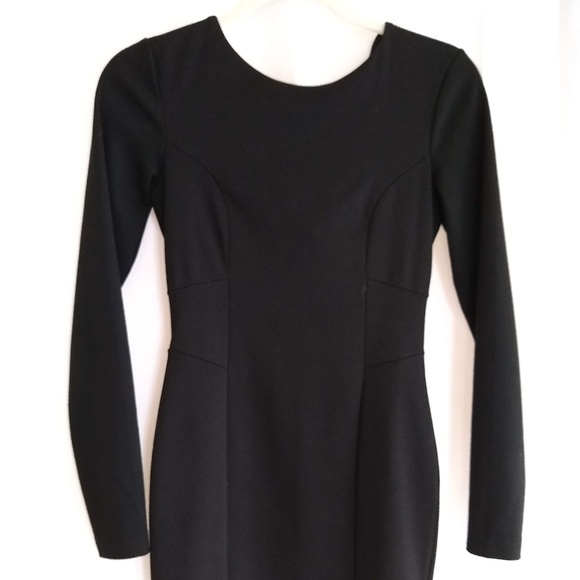 H&M Dresses & Skirts - H&M Long Sleeve Black Fitted Mini Dress
